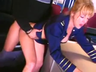 Gangbang in Airplane and at the Airport